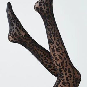 American Eagle Outfitters Leopard Print Tights